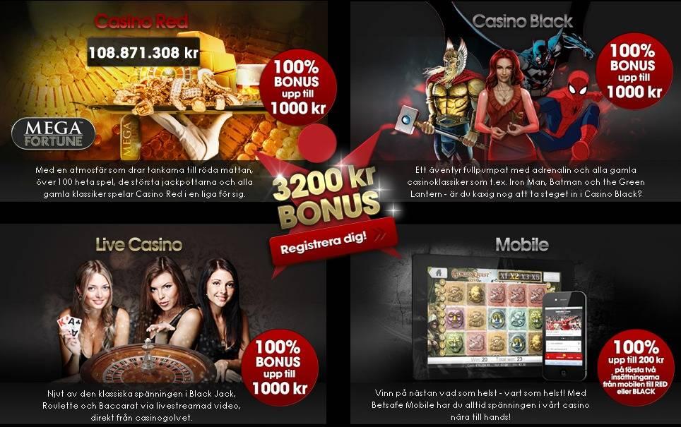 Betsafe Casino gratisrundor varje dag och 4x 100% välkomstbonus Netent, Microgaming, Live Kasino BetsafeCasino100WelcomeBonus