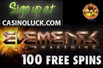 CasinoLuck 100 Gratis Spinn, Gratisrundor netent casino slot Element Januar 2013 CasinoLuck100freespinsonElementsinJanuary2013