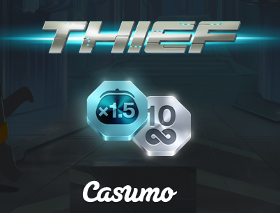 Casumo Casino 10 free spins on Thief - no deposit bonus