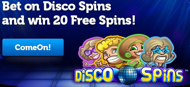 ComeOn Casino 20 Free Spins on Disco Spins   Netent Gratis Spins - December 2012 ComeOnCasino20FreeSpinsonDiscoSpinsinDecember2012