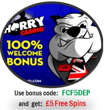 HarryCasino5freespinsNetent Harry Casino £5 Free Spins + 100% Free Bonus (NetEnt) Exclusive Promotion