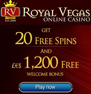 Royal Vegas Casino 20 Exclusive Free Spins - special bonus link (landing page) & 1200 free welcome bonus RoyalVegasCasino20FreeSpinsExclusive