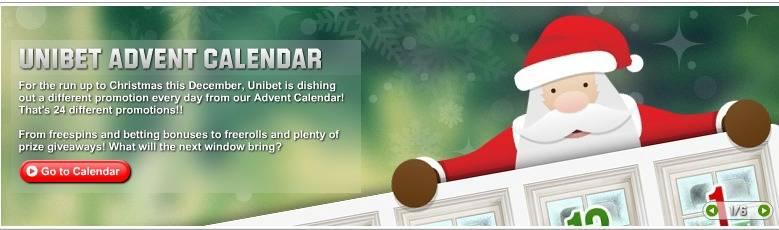 Unibet Casino Free Spins & No Deposit Bonus in Christmas Calendar 2012 UnibetCasinoFreeSpinsAdventCalendar2012