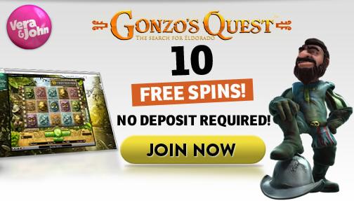 Vera John 10 Gratis Spinn & 100% Velkomstbonus (Netent Casino) VeraJohn-free-spins