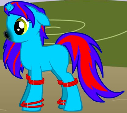 Cyan Heart comes to Ponyville CyanHeart