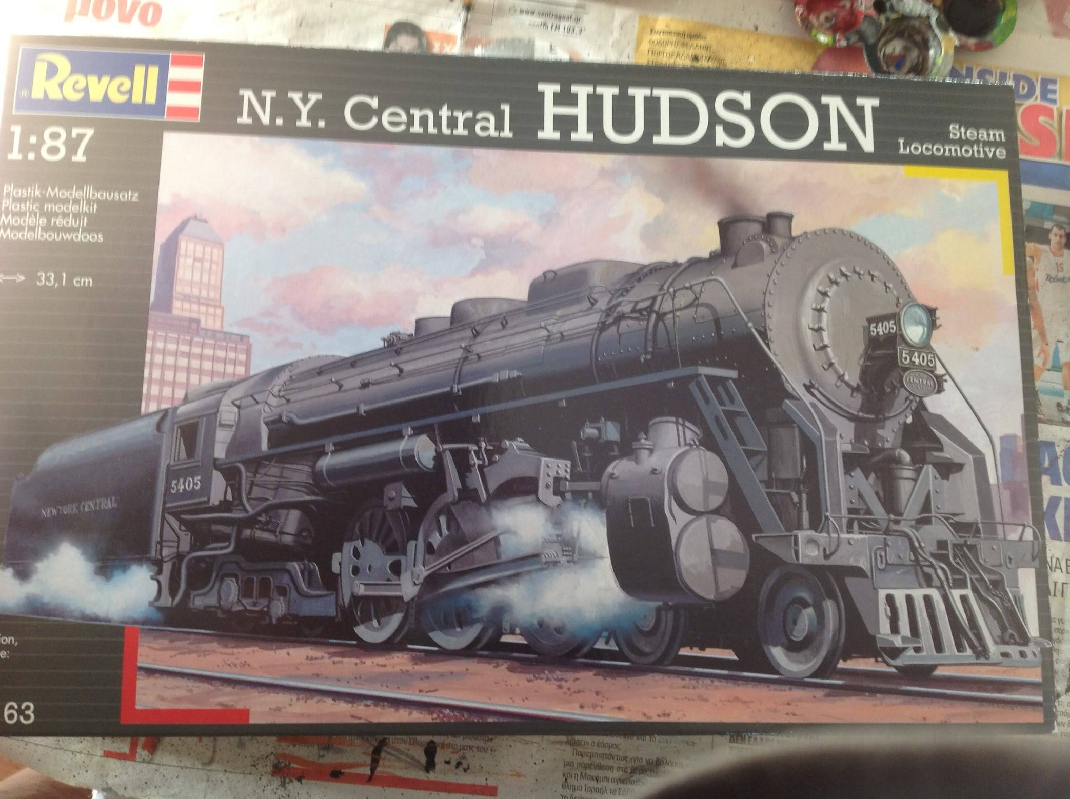 N.Y. central HUDSON ateam locomotive 144-1