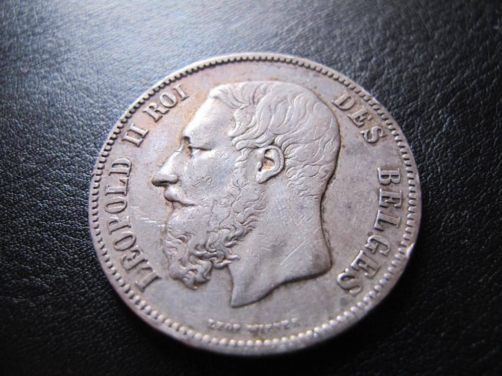 5 Francs 1869. Leopoldo II. Bélgica. IMG_0347_zpsace83556