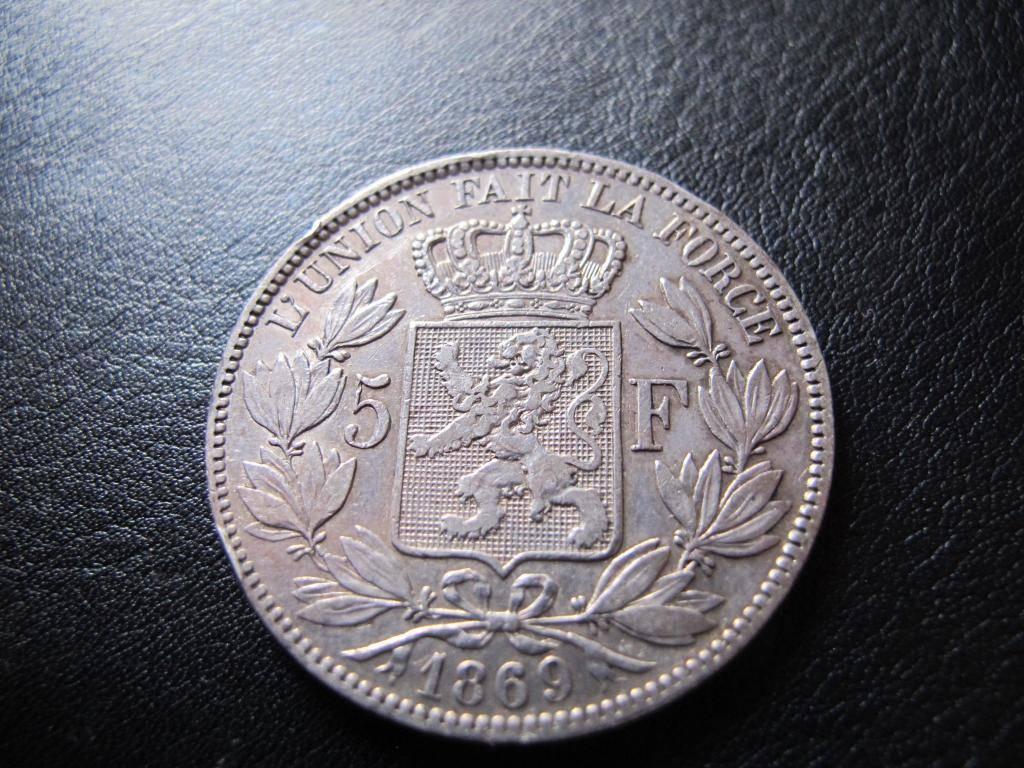 5 Francs 1869. Leopoldo II. Bélgica. IMG_0348_zps9a58ede0