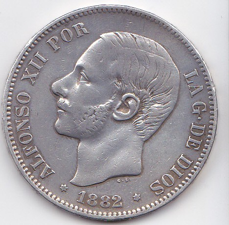 5 pesetas 1882 *18-82 M-S-M. Alfonso XII. Purlom_0003_zpsa4a1d78d