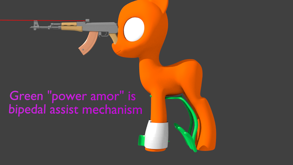 Pony bipedalism assistive device rough concept Bipedalassist4