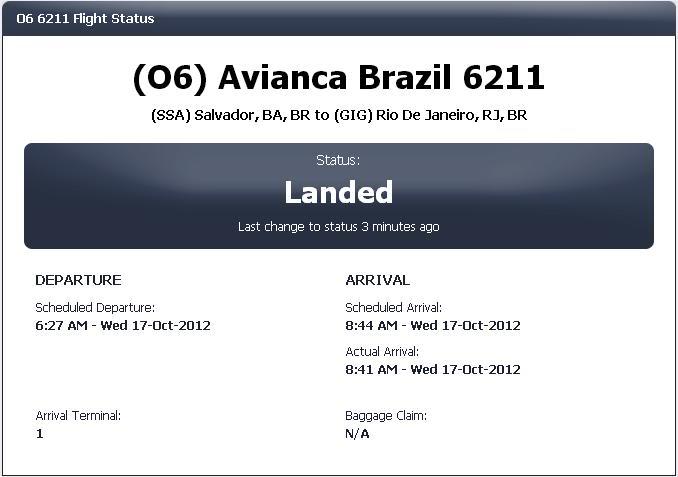 SBSV X SBGL nas asas da avianca Brasil PAINEL_zpse8b4cb53