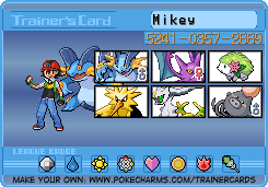 Battle me im desperate!! Mikeytrainercard