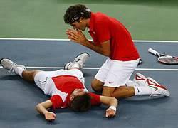 COMPAÑEROS DE JUEGO DE ROGER FEDERER Federer_wawrinka_beijing