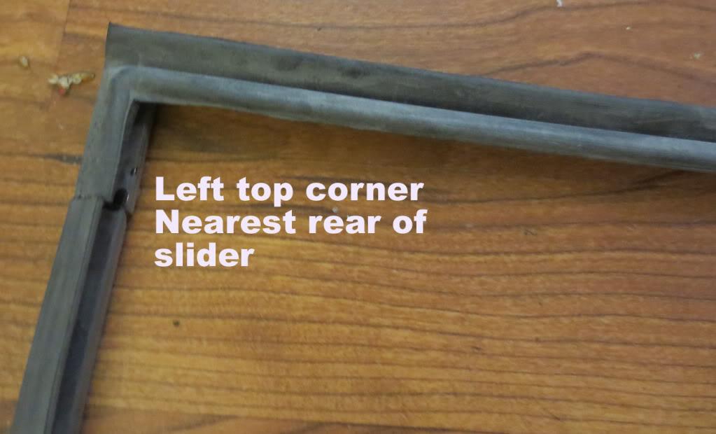 Early Bay Window Slider Door Seal Install Lefttop