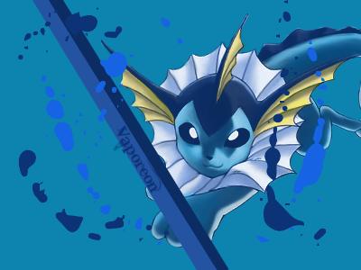 My (Not very good) Gimp artwork and paint pokemon sprites Vectorvaporeon