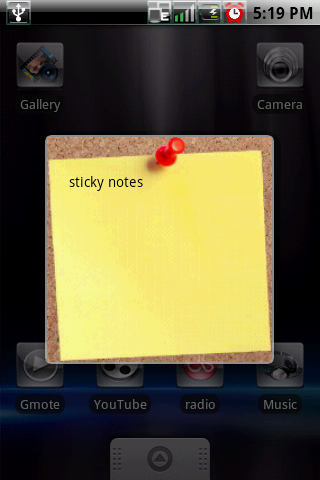 [WIDGET] STICKY NOTE : N'oublier plus rien, coller vos post-it [Gratuit] Sticky3