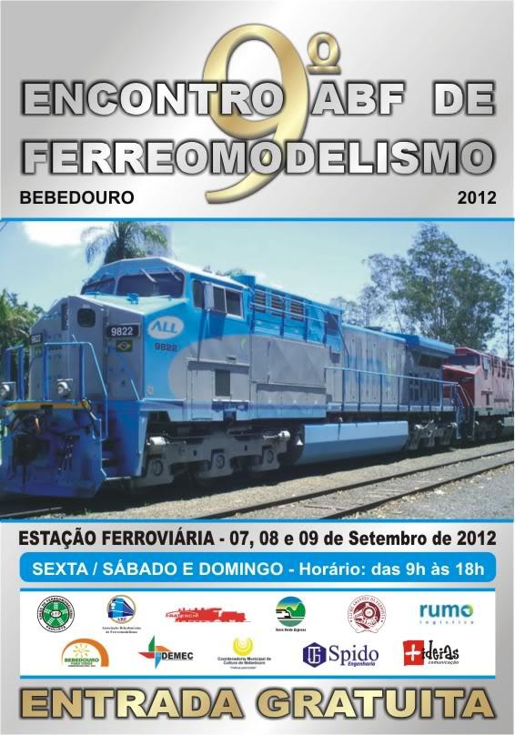 9º ENCONTRO ABF DE FERREOMODELISMO EM BEBEDOURO 2012 CARTAZABF2012