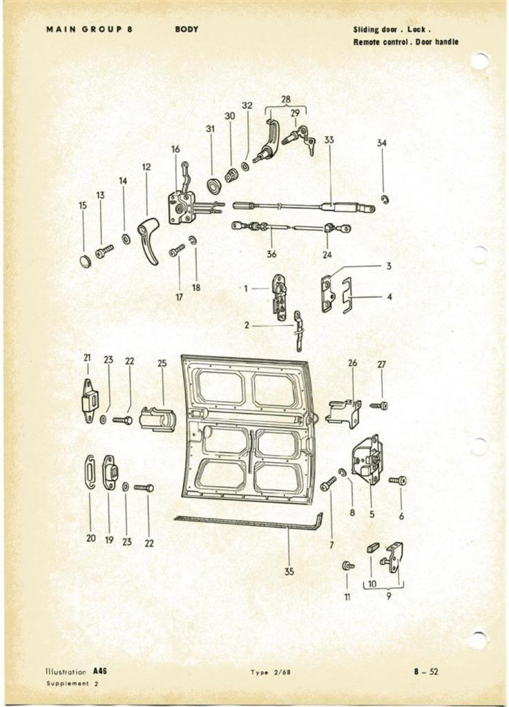 Type-2 T2a Bay Window Bus Parts Manual 1968 (2)