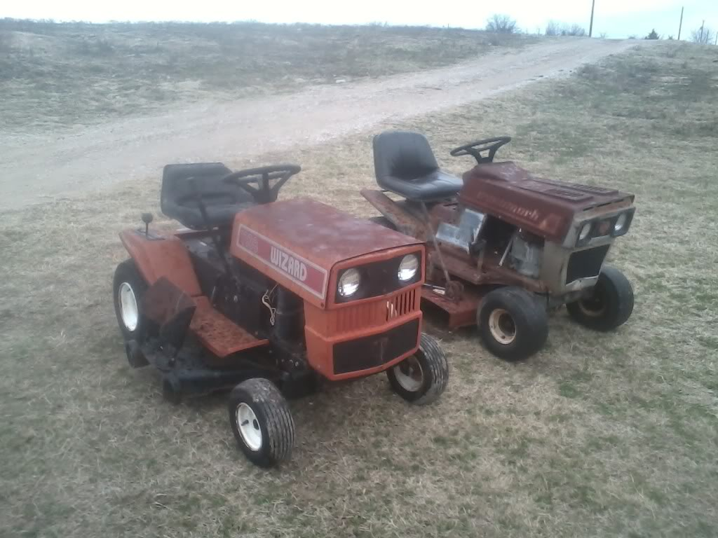 Might Get This Wizard Lawn Tractor 0112131626-01