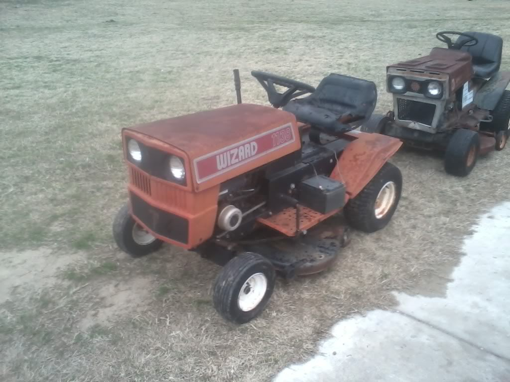 Might Get This Wizard Lawn Tractor 0112131632-00