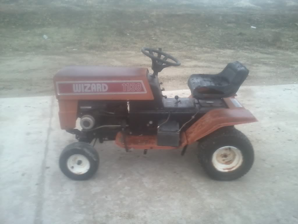 Might Get This Wizard Lawn Tractor 0112131715-00