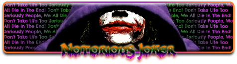 The 3 Word Story  Notoriousjokersig