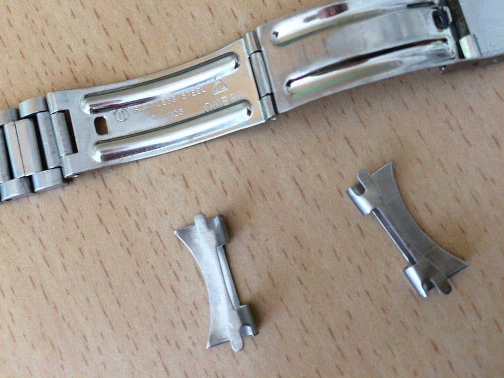 (Volé) Bracelet Acier Oméga 1125 et pièces de bout 617 (19mm) 2_zpszkmofgmy