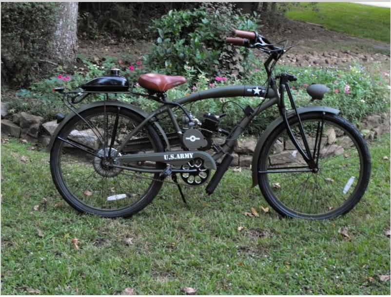 Monk's new military wheels Bike
