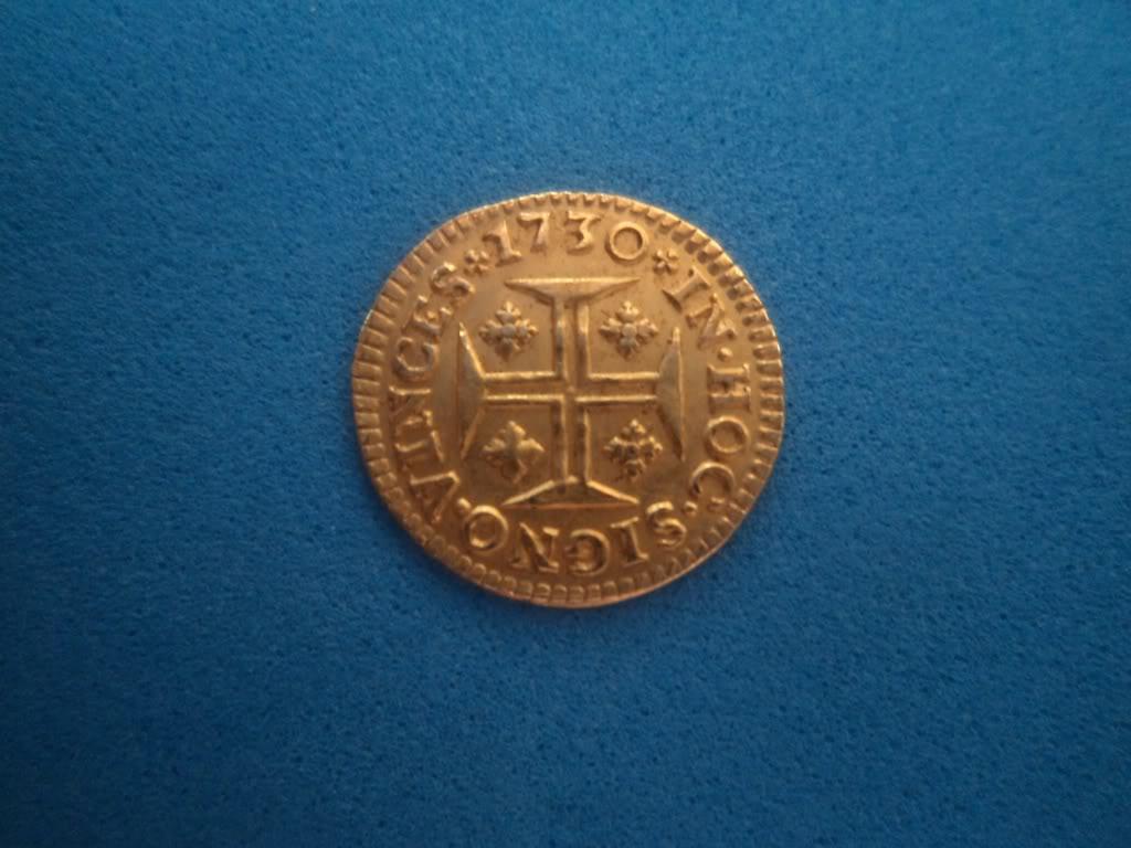 400 Reis. Juan V, Rey de portugal. 1730 DSC01486