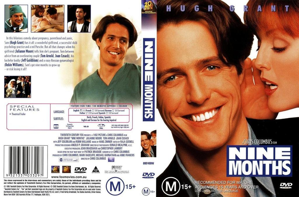 Nine Months (1995) One of Chris Columbus's best romantic comedy 9.Months-cover