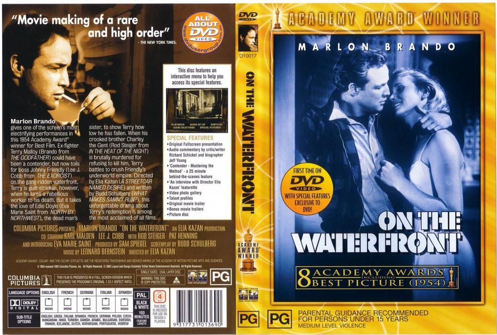 On The Waterfront (1954) Criterion release OnTheWaterfront-DVDcover
