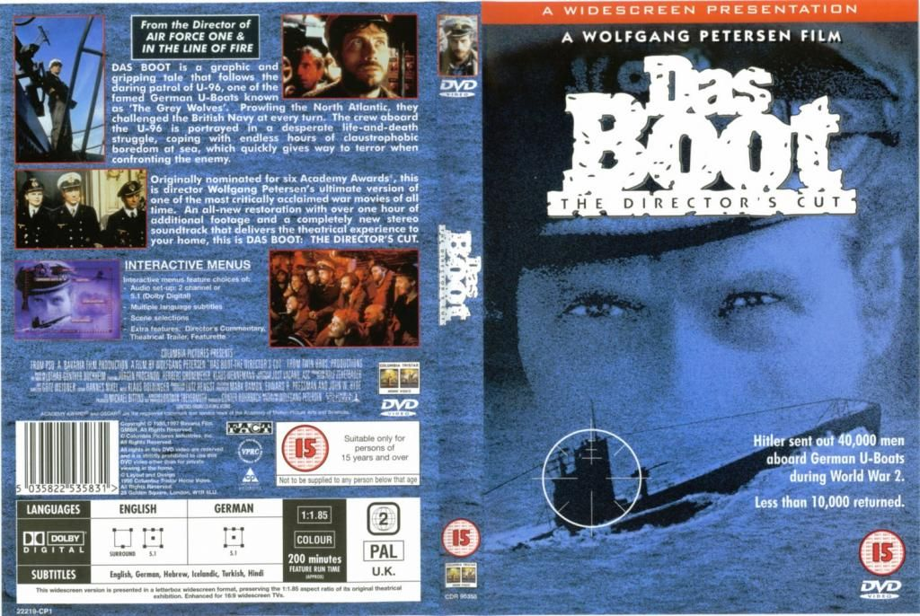 Das Boot (1981) HD Director's Cut DasBoot-DVDcover