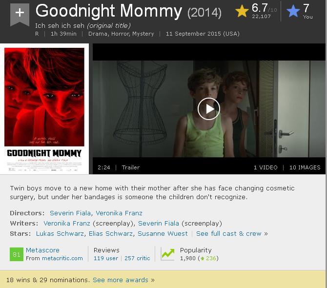 Ich seh, ich seh (Austra, 2014) a.k.a Goodnight Mommy IMDB-Goodnight.Mom