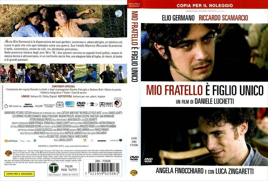 Mio fratello è figlio unico  (2007) My Brother Is an Only Child   Mio.Fratello_ItalianDVD