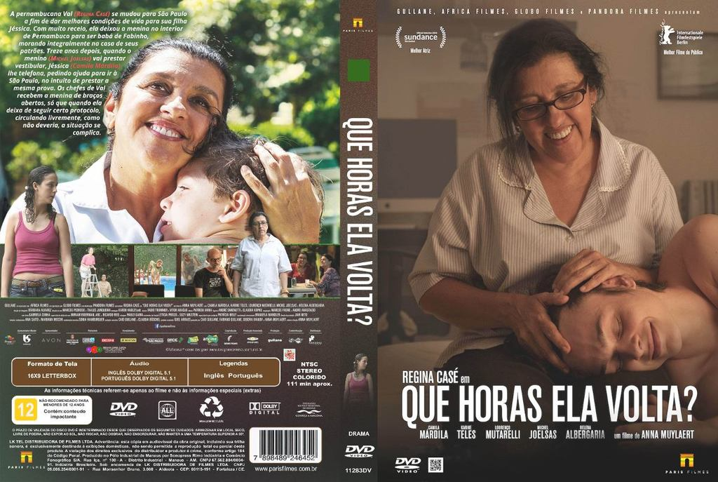 Que Horas Ela Volta? (Brasil, 2015) a.k.a The Second Mother Dvd-que-horas-ela-volta