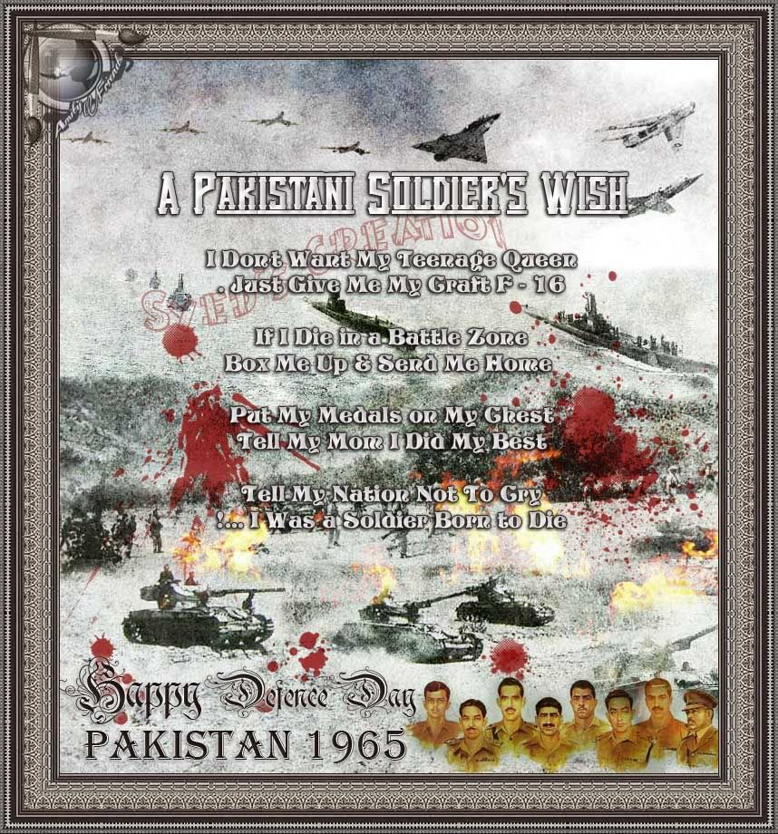 A Tribute - 6th September 1965. Defence-5