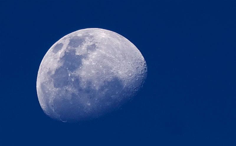 La luna (desde este lado del charco) Cuartocreciente