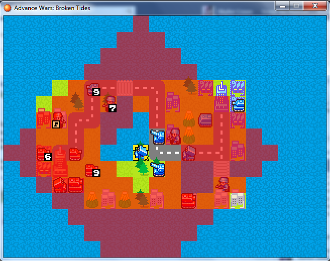 Advanced wars Enguine v0.1 Gritrange