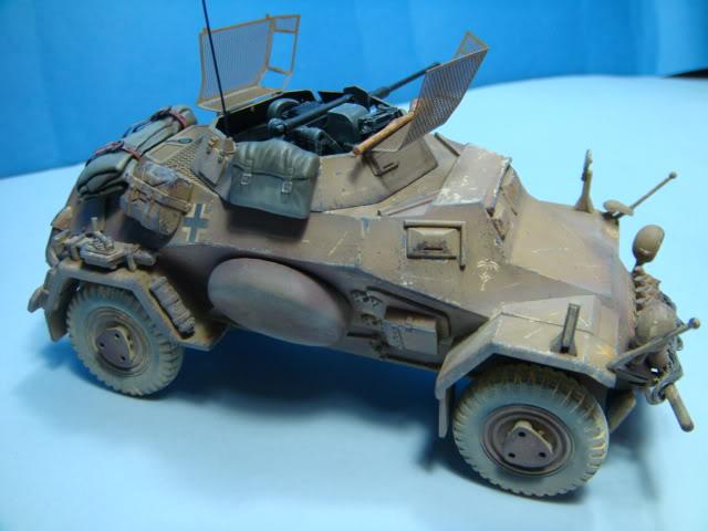 Sd.Kfz.222 LEICHTER PANZERSPAHWAGEN . DAK. (Deutsches Afrikakorps) DSC07049