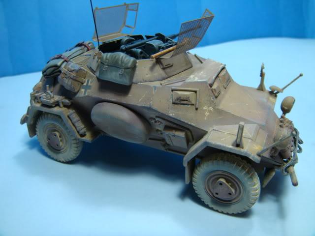 Sd.Kfz.222 LEICHTER PANZERSPAHWAGEN . DAK. (Deutsches Afrikakorps) DSC07050