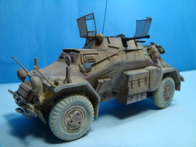 Sd.Kfz.222 LEICHTER PANZERSPAHWAGEN . DAK. (Deutsches Afrikakorps) DSC07052