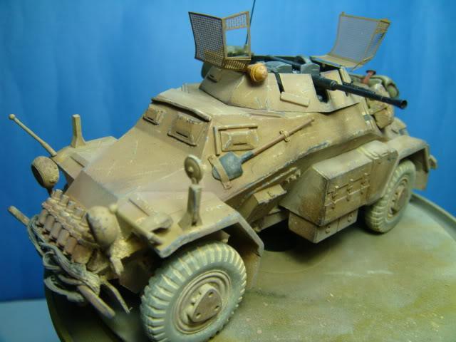 Sd.Kfz.222 LEICHTER PANZERSPAHWAGEN . DAK. (Deutsches Afrikakorps) DSC07062