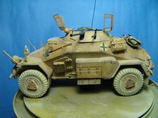 Sd.Kfz.222 LEICHTER PANZERSPAHWAGEN . DAK. (Deutsches Afrikakorps) DSC07063-1