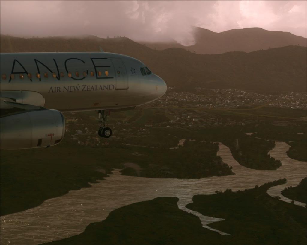 Air New Zealand landing at Cairns 1-19