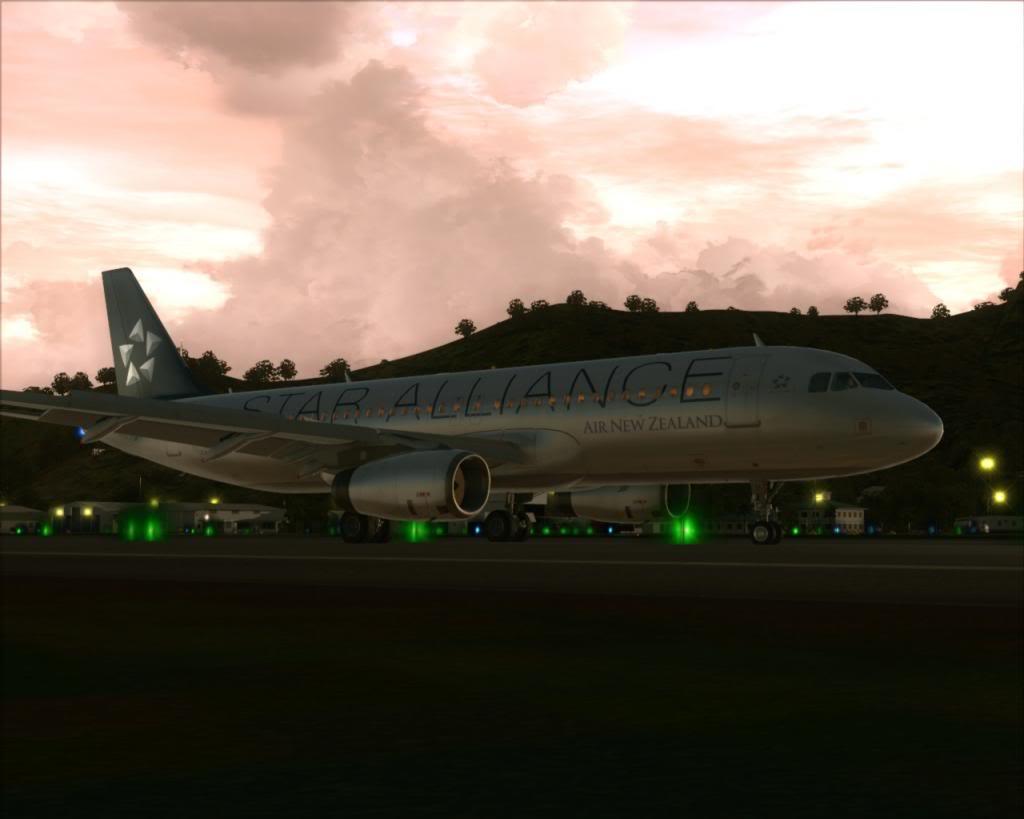 Air New Zealand landing at Cairns 10-13