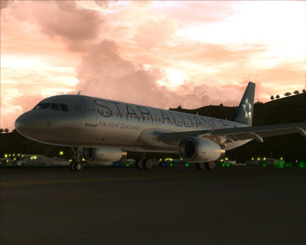Air New Zealand landing at Cairns 13-14