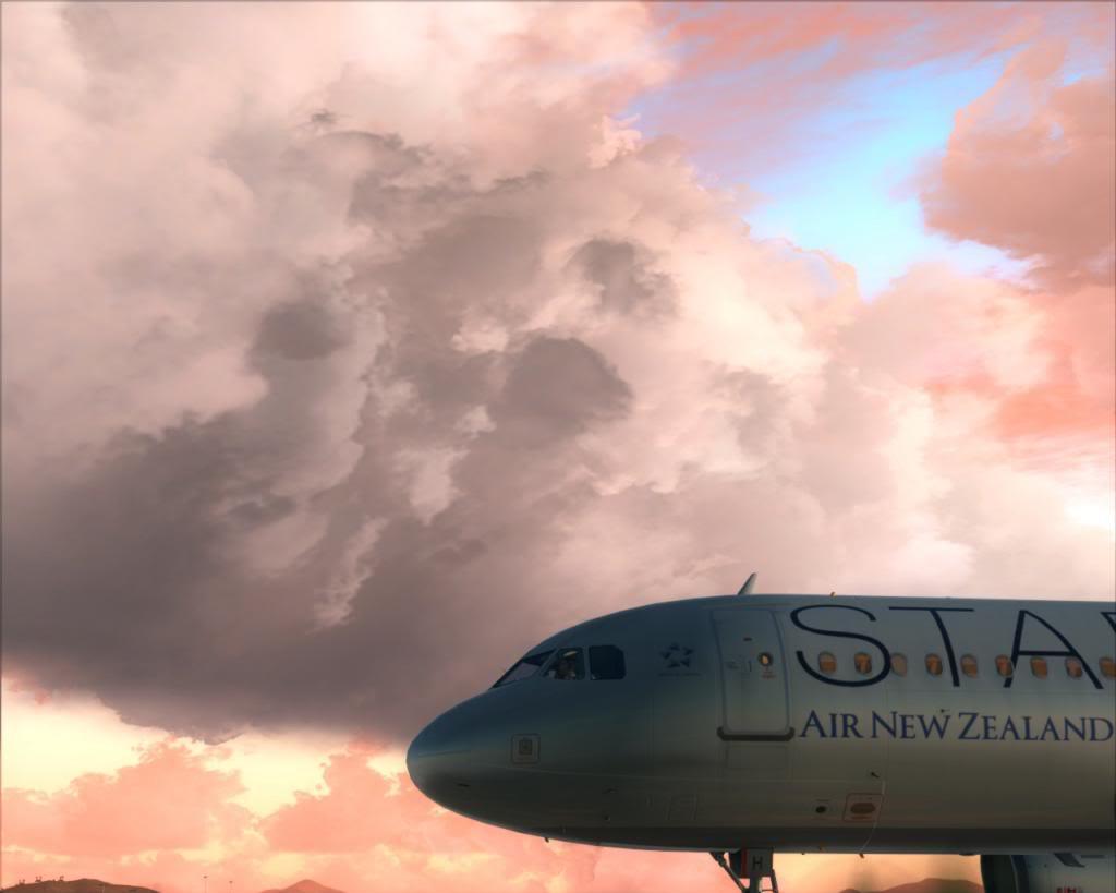 Air New Zealand landing at Cairns 16-12