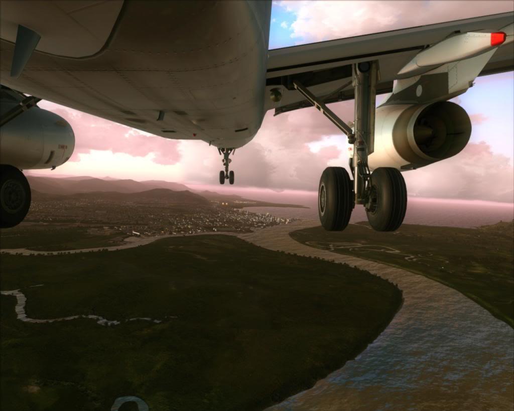 Air New Zealand landing at Cairns 2-18