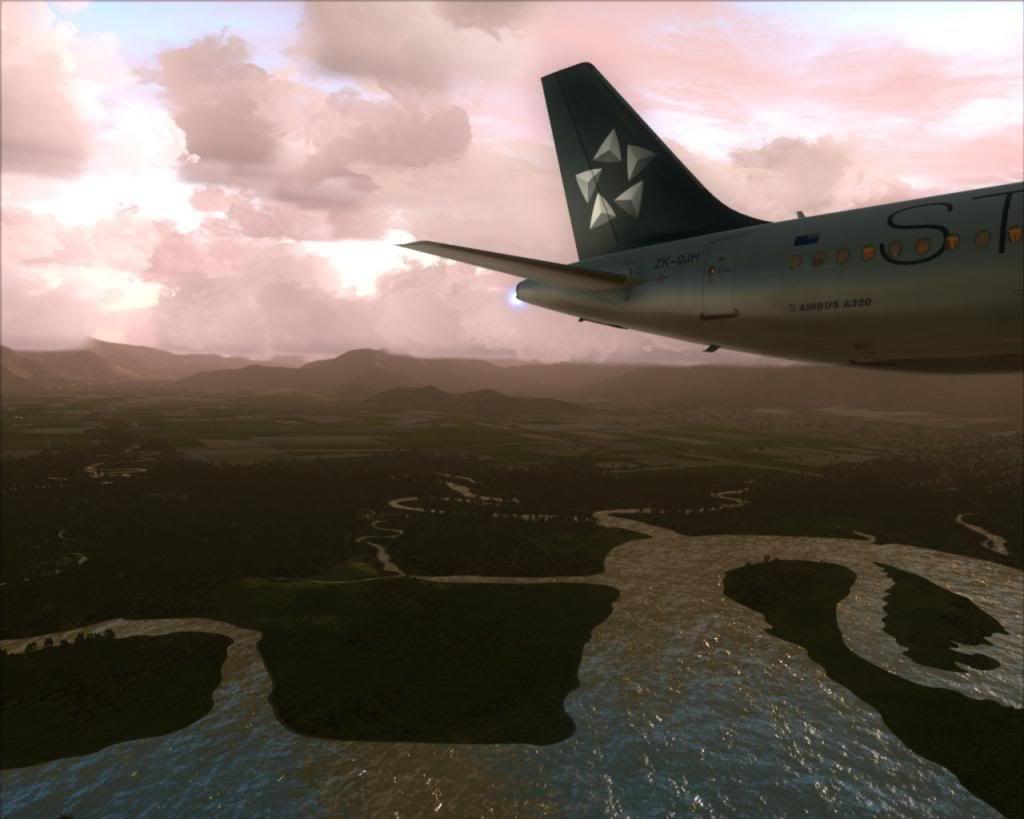 Air New Zealand landing at Cairns 3-17