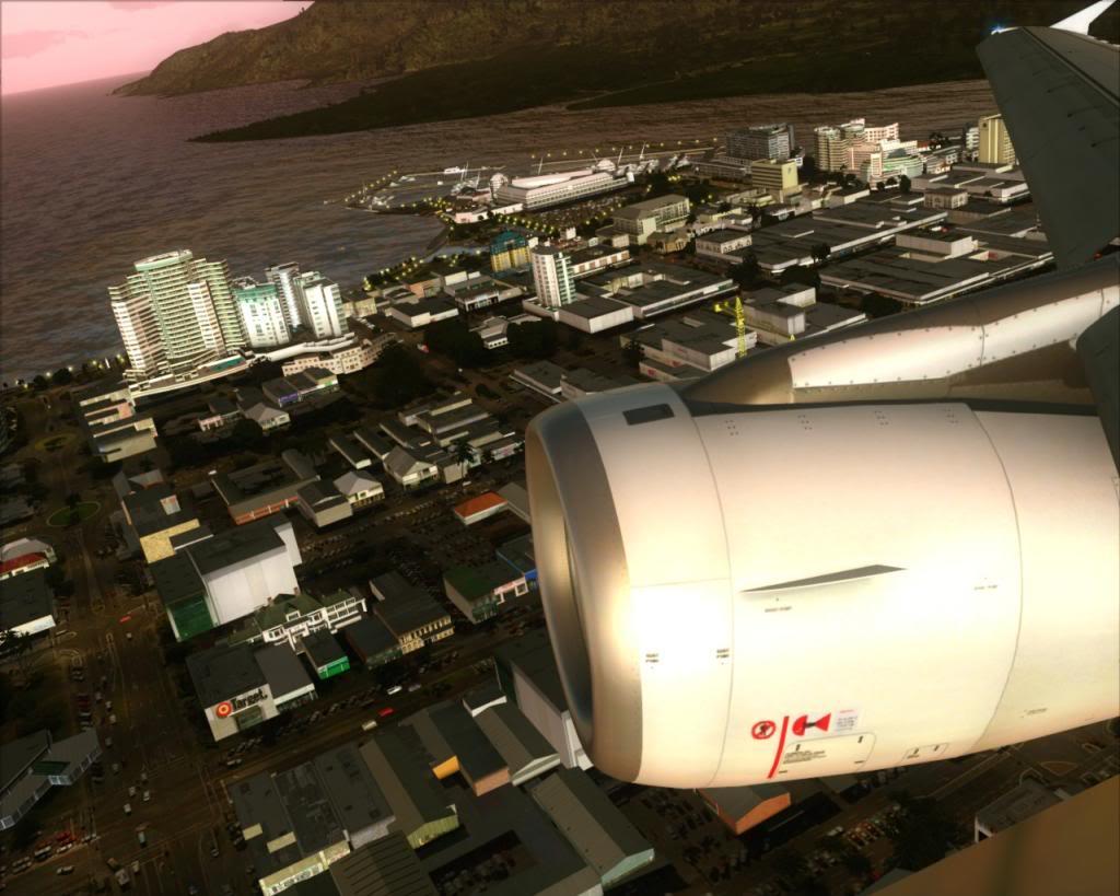 Air New Zealand landing at Cairns 5-14